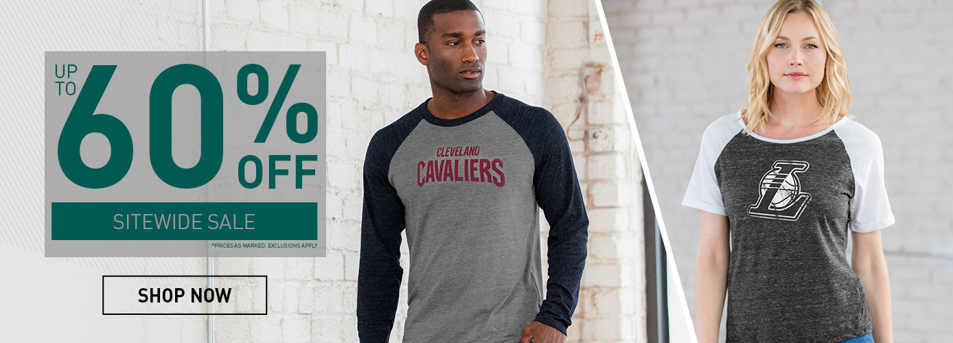 SAVE UP TO 60% OFF APPAREL AT THE NBA STORE EVERYDAY!