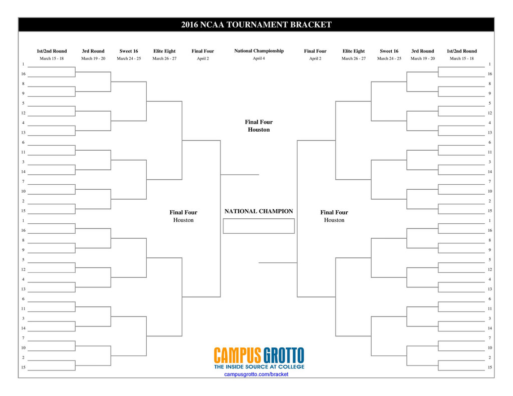 NCAA BASKETBALL TOURNAMENT SCHEDULE