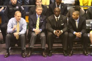 Michigan Head Coach, Jim Beilein and his coaching staff