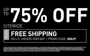NBA STORE 75% OFF SITE-WIDE